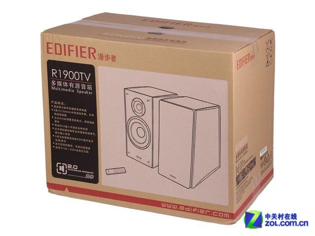 漫步者R1900TV音箱配件 从大体上来看,这款2.0音箱沿用了漫步者R系列奢华典雅的特点,跟过去的R系列音箱相比有过之而无不及,两侧加入了实木元素,不仅提升了沉稳的感觉,并且在家居生活当中也可以很好的提升使用者的品味,起到了点亮家居生活的作用,就像是摆放在家中的艺术品一样。