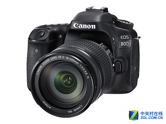 搭配18-200mm镜头 佳能80D套机8430元
